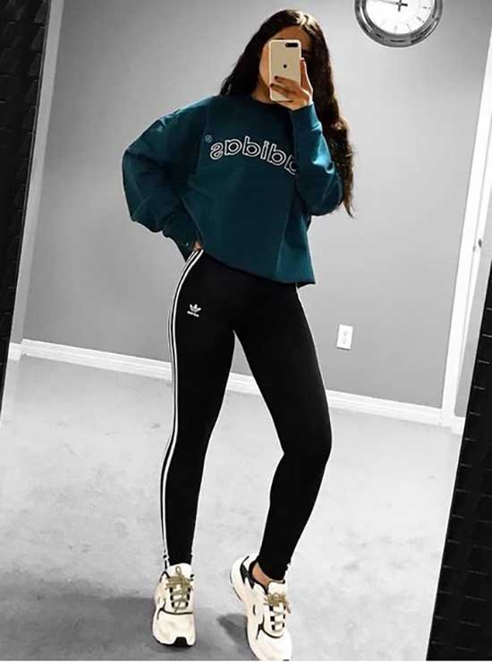 Sporty Adidas Outfits for Girls-10