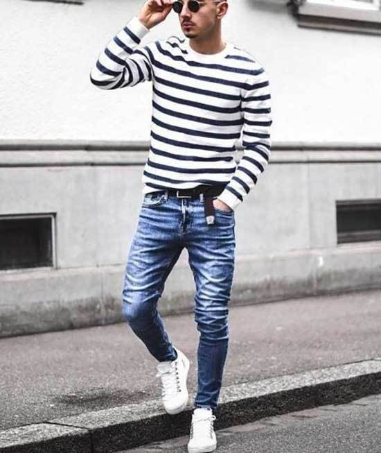 Sporty White Shoes Outfit Men-13