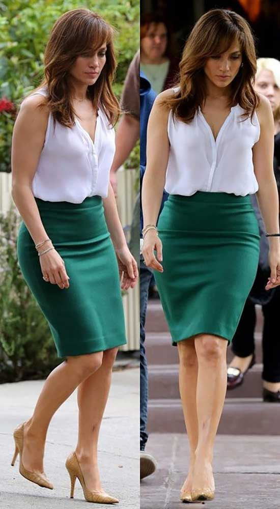 Jlo Pencil Skirt Outfits-14