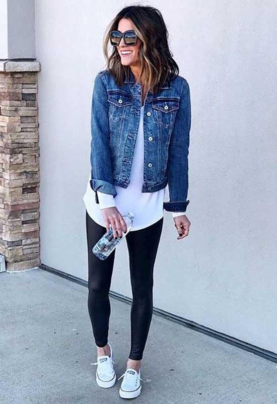 Easy Black Leggings Outfit Ideas-16