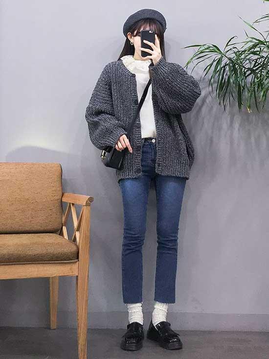 Korean Girl Winter Outfits-16