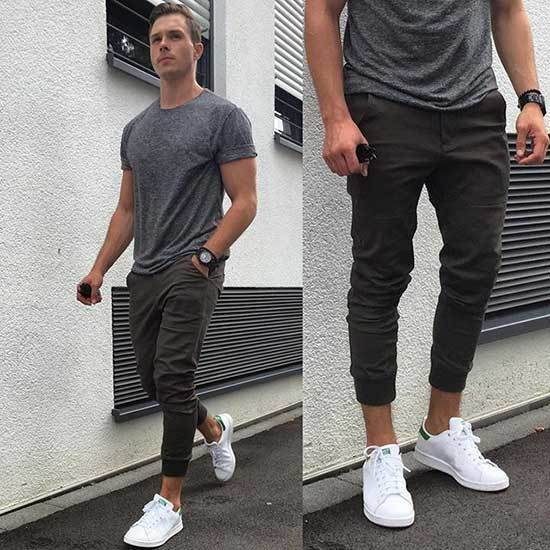 Daily White Shoes Outfit Men-17