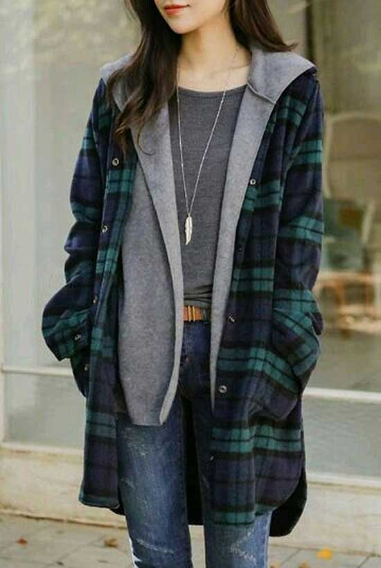 Cute Flannel Cardigan Outfits-18