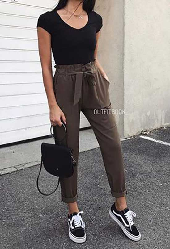Simple Paper Bag Pants Outfits-18
