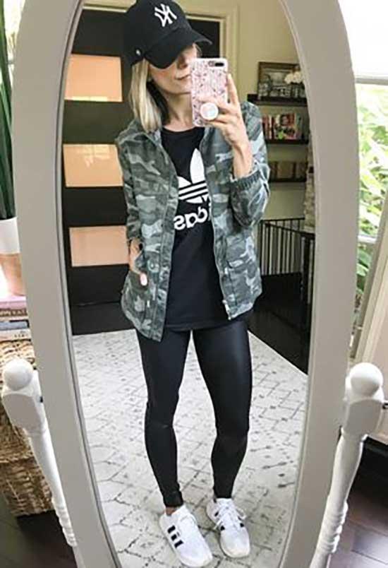 Black Leggings Athleisure Outfit Ideas-19