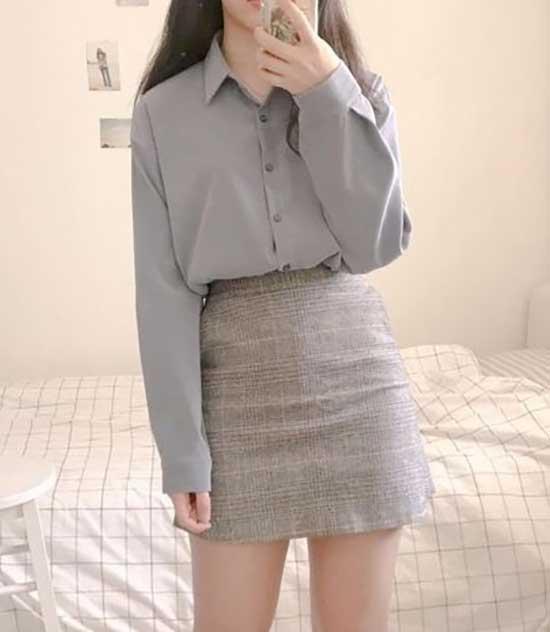 Minimalist Korean Girl Outfits-19