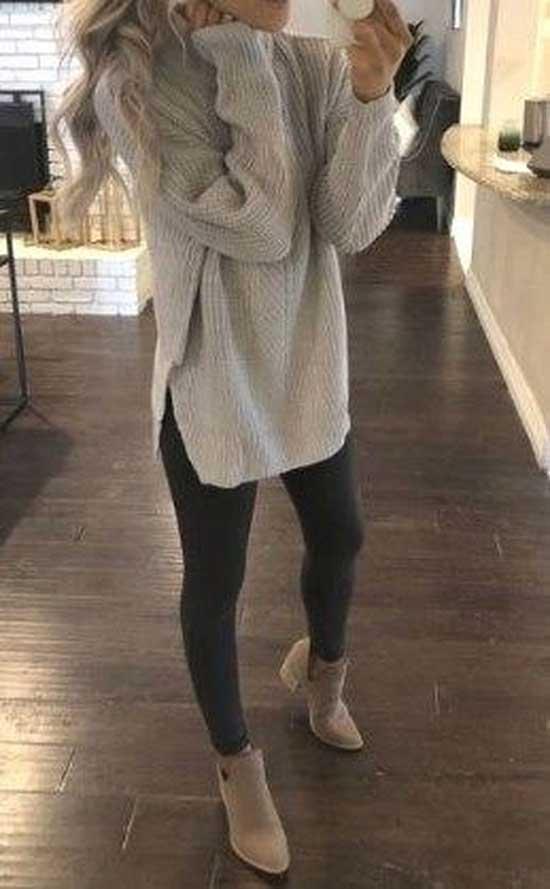 Black Leggings office Outfit Ideas-20