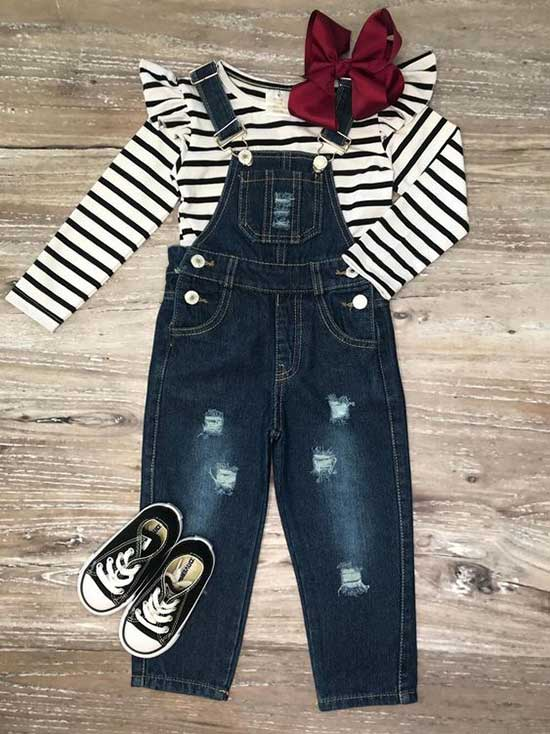 Pretty Jean Overalls for Little Girls-20