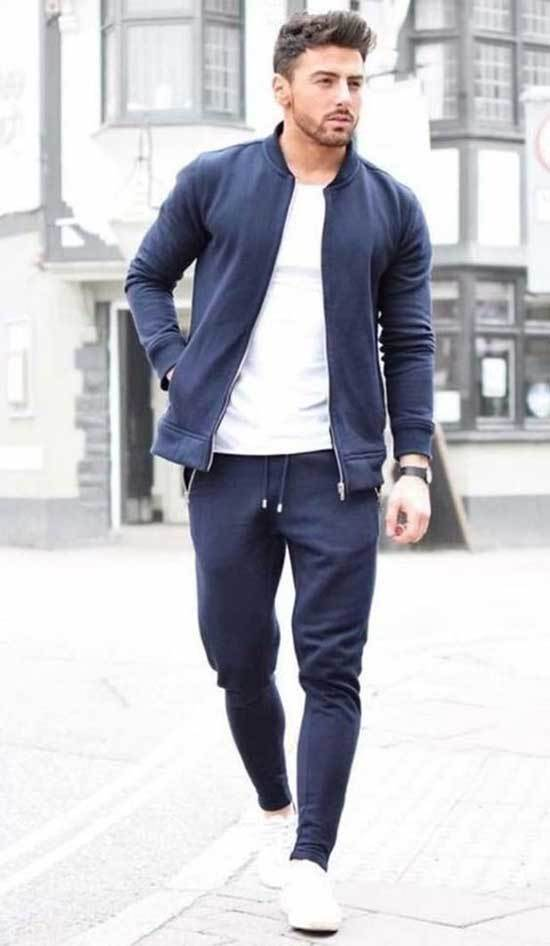 Simple White Shoes Outfit Men-20