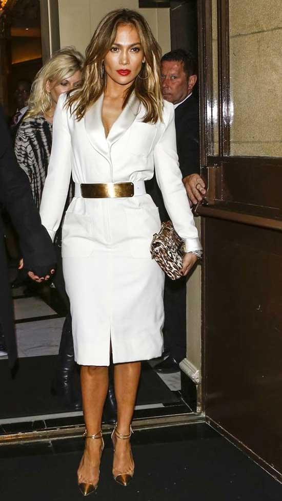 Jlo All White Dress Outfits-22
