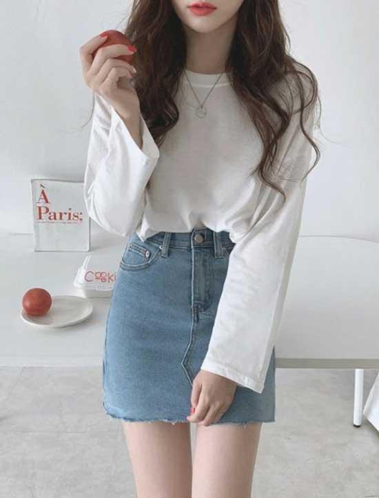 Mini Skirt Korean Girl Outfits-22