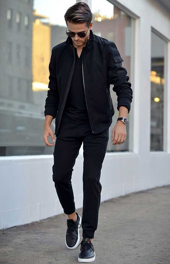 Cool Casual All Black Clothes for Guys-23