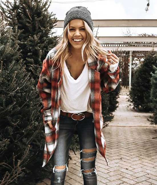 Cute Flannel Outfits-23
