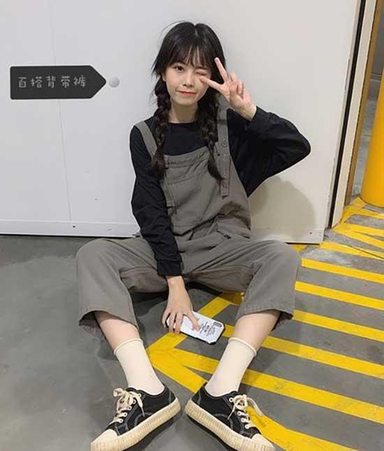 Korean Girl Overall Outfits-23