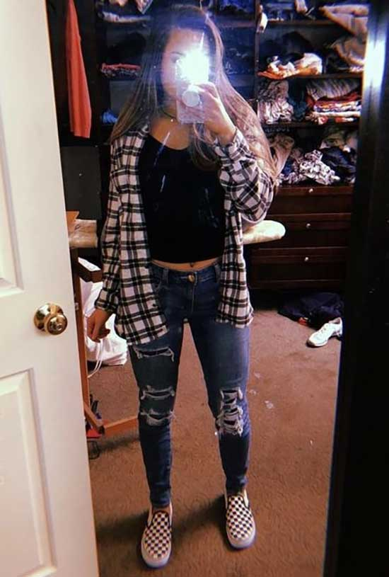 Cute Flannel Outfits-24