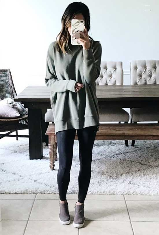 Black Leggings Outfit Ideas-24