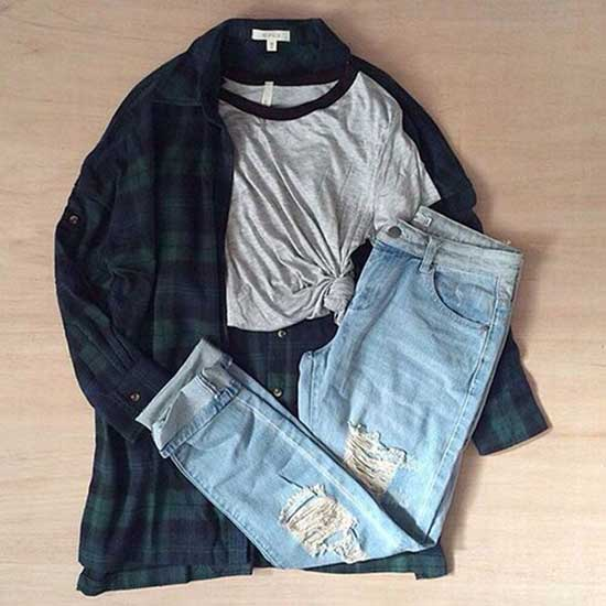 Cute Flannel Outfits-25