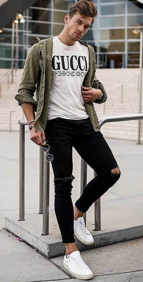 White Shoes Outfit Men-25