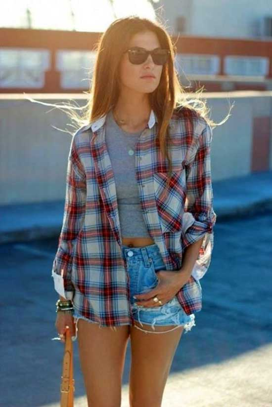 Cute Flannel Outfits-26