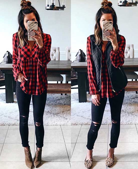 Cute Flannel Outfits-29