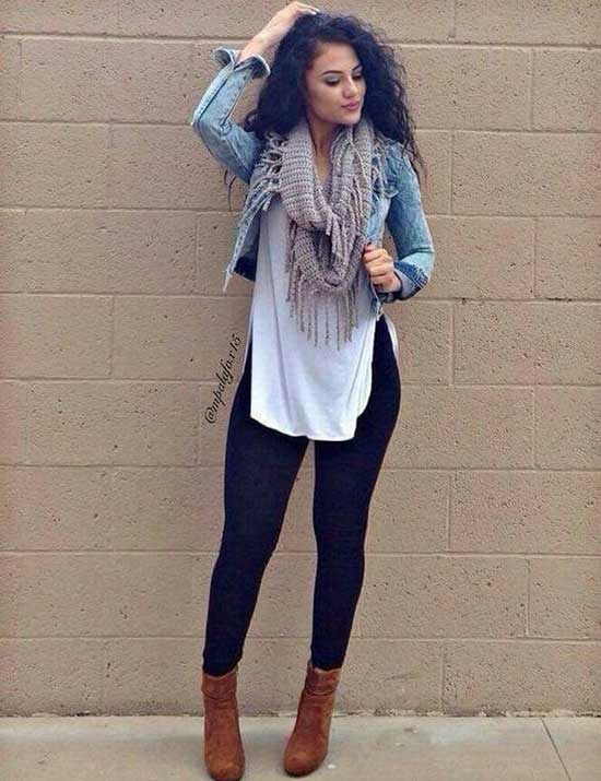 Black Leggings Outfit Ideas-29