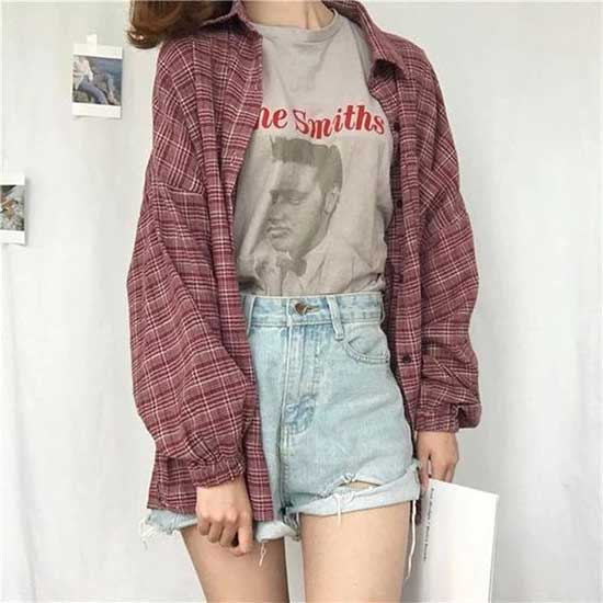 Cute Flannel Outfits-30