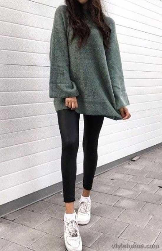 Black Leggings Outfit Ideas-30