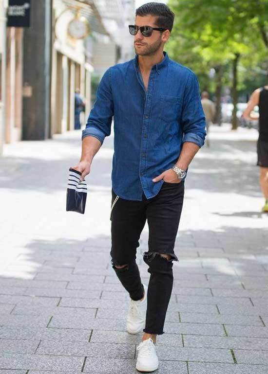 White Shoes Outfit Men-33
