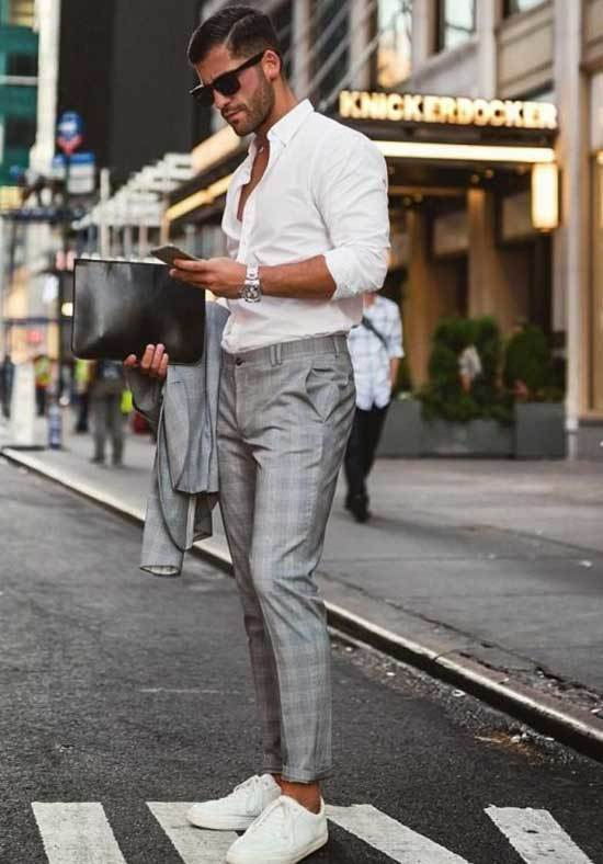 White Shoes Outfit Men-37