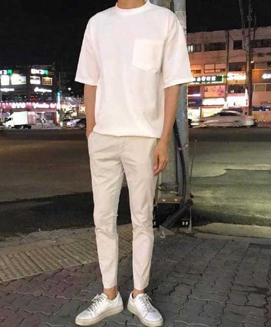 Cool Casual All White Clothes for Guys-7