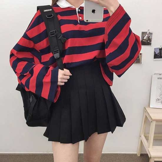 Hipster Korean Girl Outfits-7