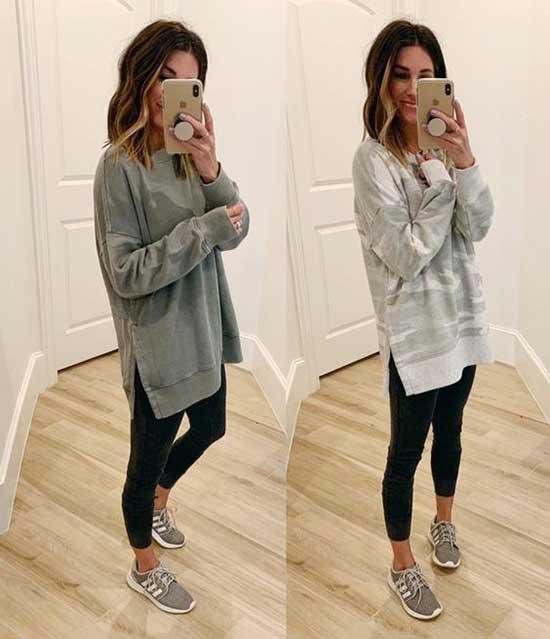 Sweatshirt Black Leggings Outfit Ideas-7