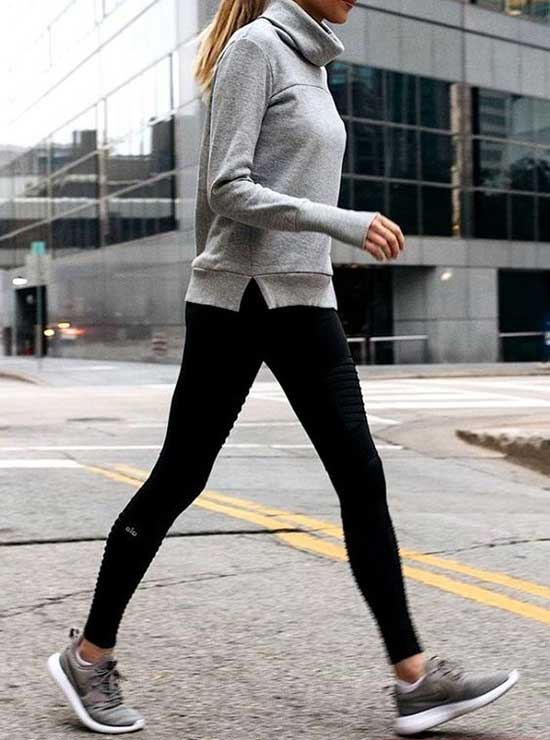 Casual Black Leggings Outfit Ideas-8