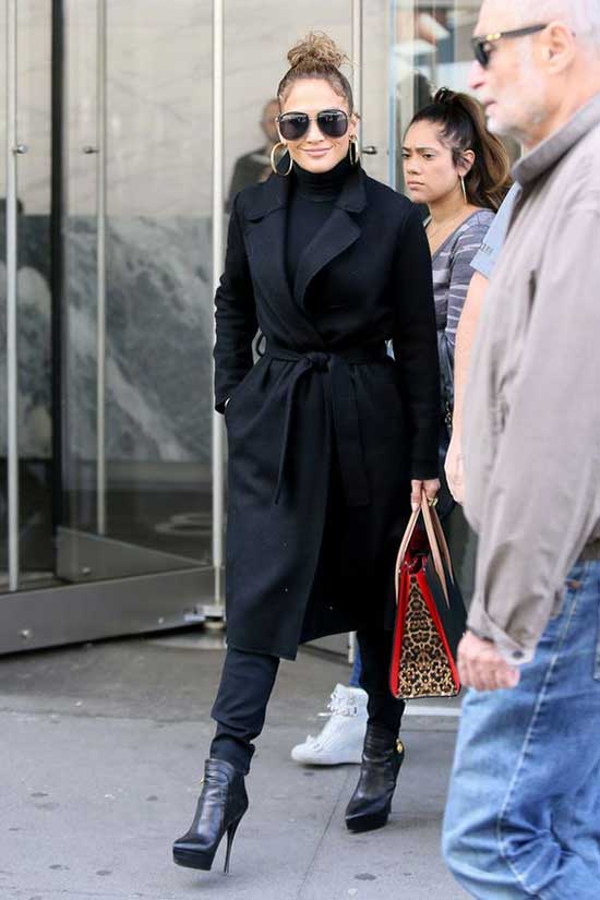 Jlo All Black Outfits-8