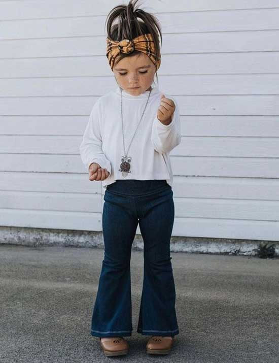 Pretty Flare Pants Clothes for Little Girls-8