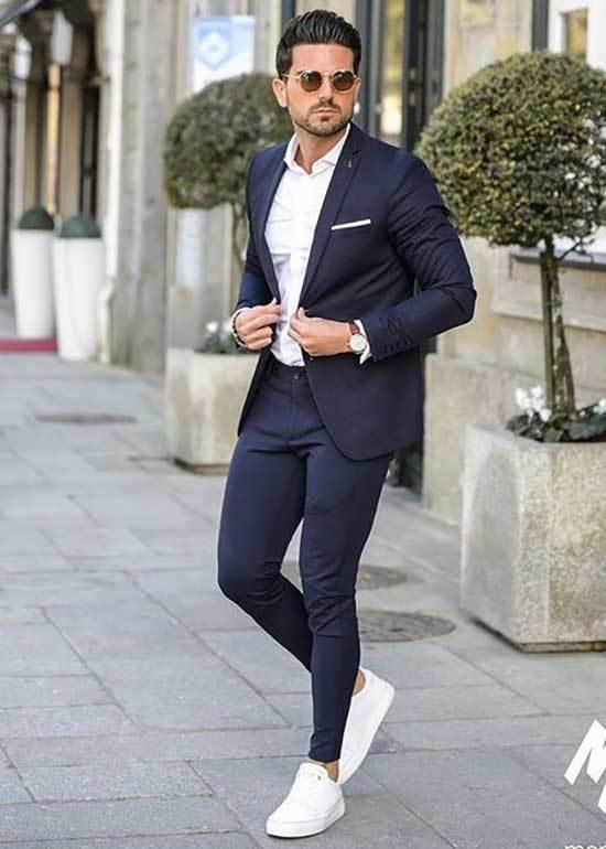 White Shoes Formal Outfit Men-8