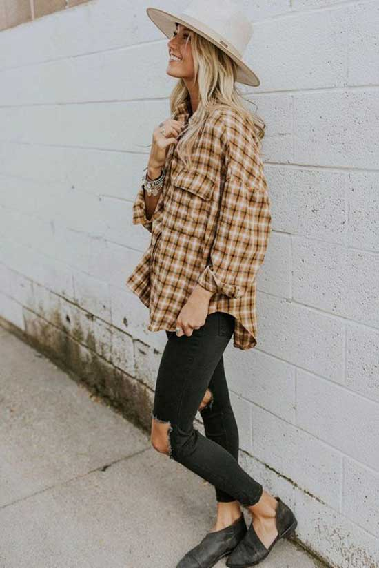 Cute Jeans and Flannel Outfits-9