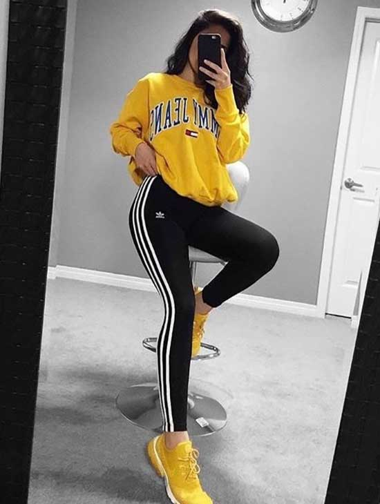 Sporty Black Leggings Outfits for Girls-9