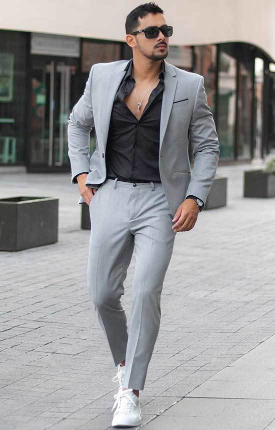 Men's Outfits with White Shoes