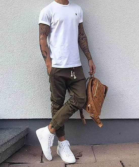 White Sneakers Men Outfit