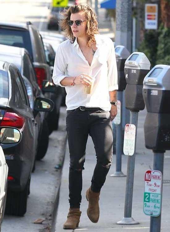 Harry Styles Street Style Clothing-11
