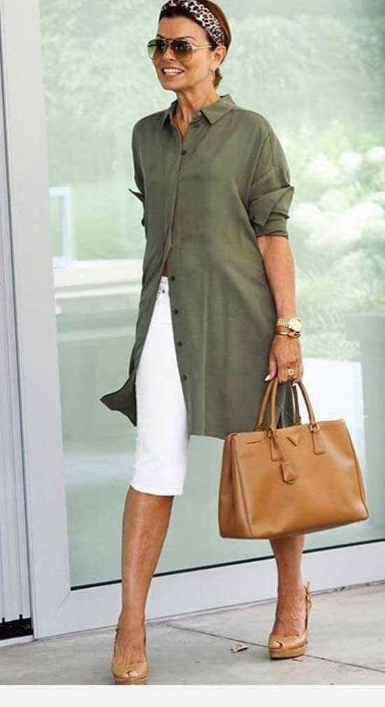 Casual Linen Tunic Dress for Women Over 50-12