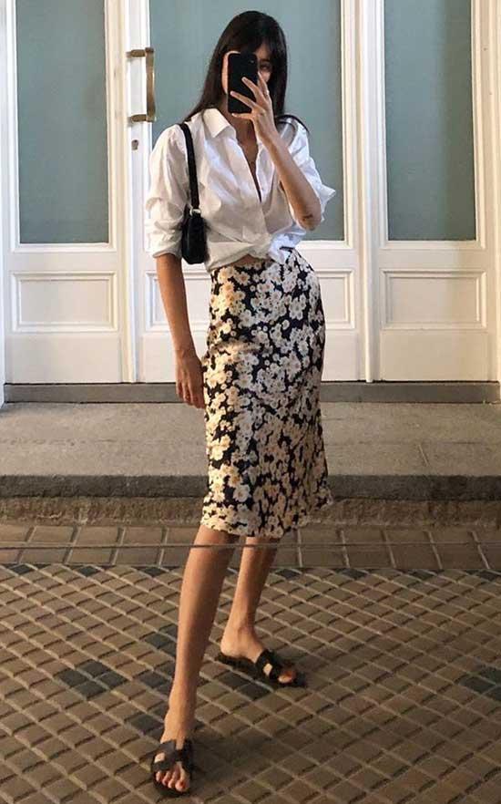 Midi Skirt Parisian Street Style-12