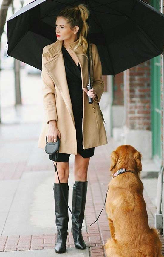 Camel Coat Rainy Day office Outfit-13