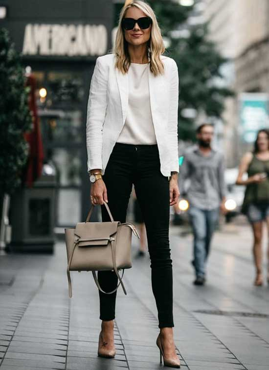 Luxury White Blazer Outfit Ideas-13