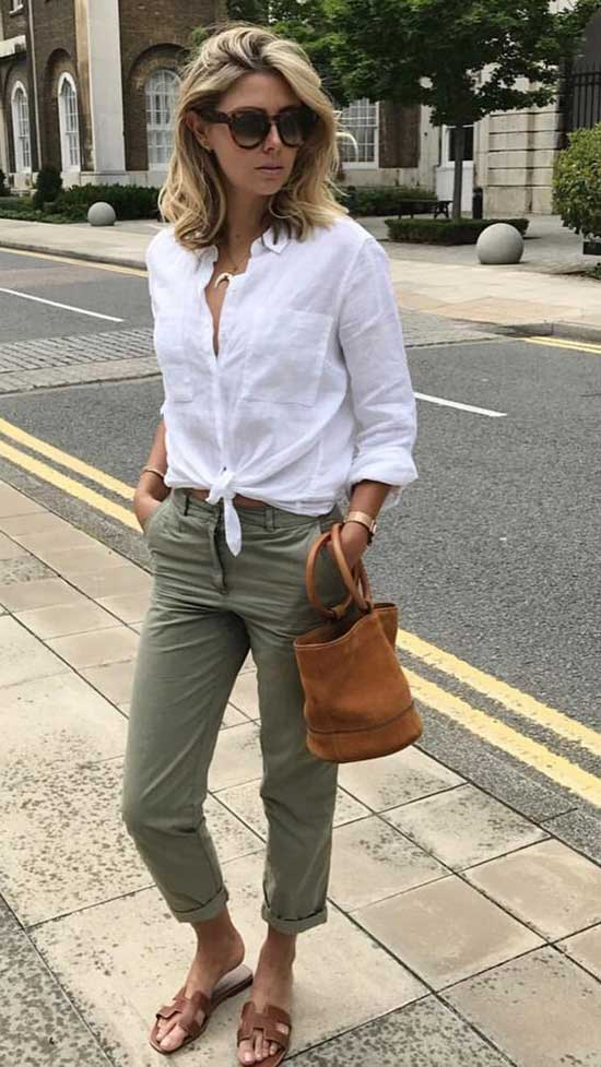 White Shirt Outfit Ideas for Women Over 40-13