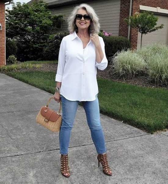Casual Blue Jeans for Women Over 50-13