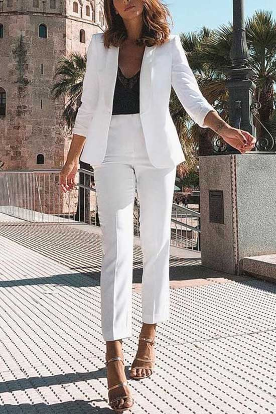 formal White Blazer Outfit Ideas-14