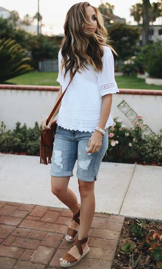 Basic Outfits with Jean Shorts-15