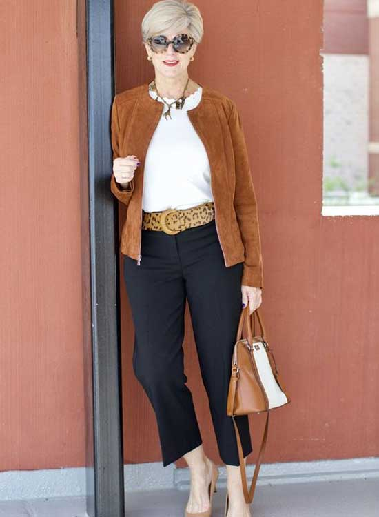 Casual Fall Colors Clothes for Women Over 50-16